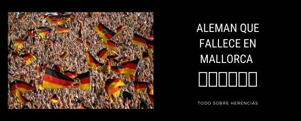 Alemán que fallece en Mallorca