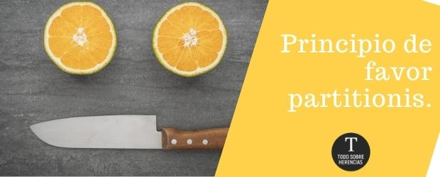 El principio favor partitionis